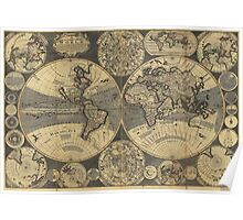 World Map (1702) Poster