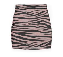 0592 Rosy Brown Tiger Mini Skirt