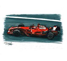 2008 Ferrari F2008 Photographic Print