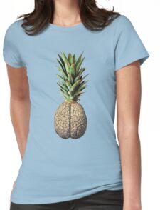 Pinebrain (pineapple) Womens Fitted T-Shirt