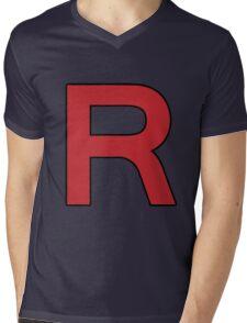 Pokemon - Team Rocket Logo Mens V-Neck T-Shirt