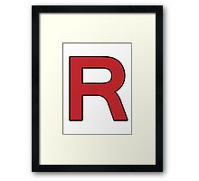 Pokemon - Team Rocket Logo Framed Print