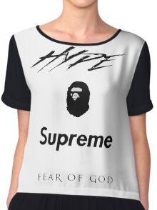 Hype Bape Supreme Fear of God Chiffon Top