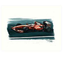 2009 Ferrari F60 Art Print