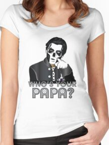 WHO'S YOUR PAPA? - papa 3 - design 5 Women's Fitted Scoop T-Shirt