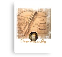 leonardo inventor  Canvas Print