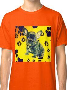 Frenchie Paw Print Classic T-Shirt