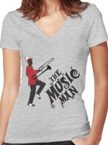 the music Women's Fitted V-Neck T-Shirt