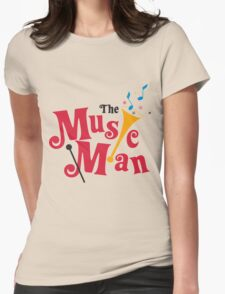 the music Womens Fitted T-Shirt