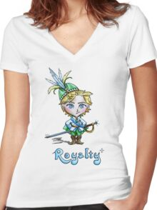 Kawaii Royalty Women's Fitted V-Neck T-Shirt