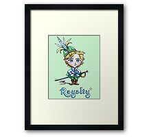Kawaii Royalty Framed Print