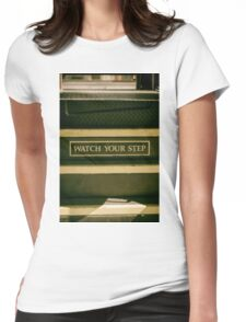 Vintage Train Sign 3 Womens Fitted T-Shirt