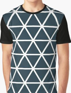Blue graphic triangle print Graphic T-Shirt