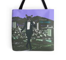 Frenchie in town Tote Bag