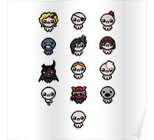 The Binding of Isaac characters Poster