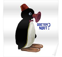 Doctor Noot - Pingu and Doctor Who Poster