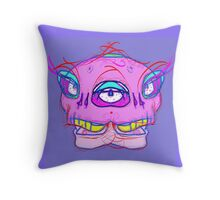 Conjoined Smiling Skull 1  Throw Pillow
