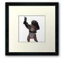Puppy-Monkey-Baby Framed Print