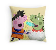 dragon pig Throw Pillow