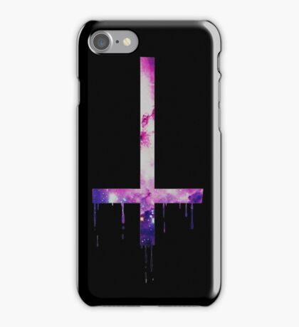 Dripping Cross - Black iPhone Case/Skin