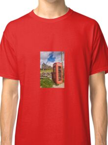 Red Telephone Box and Slate Mill Ruins Classic T-Shirt