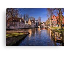 Blue Bruges  Canvas Print