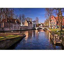 Blue Bruges  Photographic Print