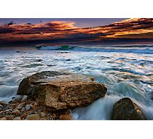 Against the Tide at Montauk Point Photographic Print