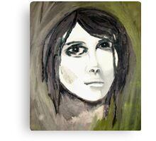 Hartz - Painting of a young lady Canvas Print
