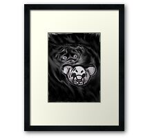 Cute Tiger Sketch Framed Print