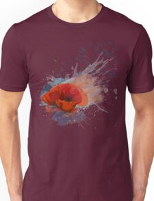 Beautiful Watercolor Poppies Unisex T-Shirt
