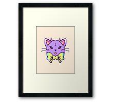 Pixel Pastel Goth Kitty  Framed Print