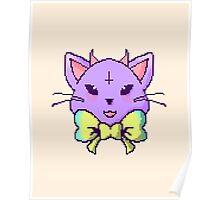 Pixel Pastel Goth Kitty  Poster