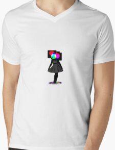 Color Test Girl Mens V-Neck T-Shirt