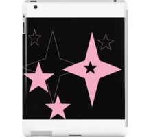 black and pink abstract starz iPad Case/Skin