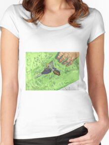 FIND ME! Women's Fitted Scoop T-Shirt