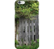 Wood Gate Next to a Street iPhone Case/Skin