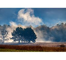 Cades Cove In The Mist Photographic Print