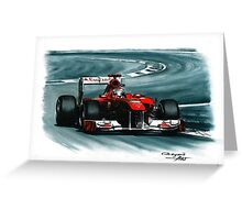 2011 Ferrari 150° Italia Greeting Card