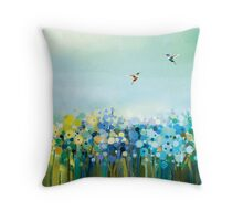Hummingbirds in Nature Throw Pillow