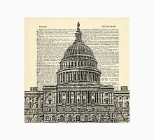 Capitol Building with Dictionary paper background Unisex T-Shirt
