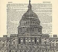 Capitol Building with Dictionary paper background by darkislandcity