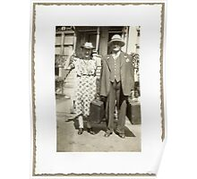 """""""My Great Grandparents, The Halls""""... prints and products Poster"""