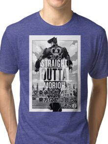 Josuke-straight outta morioh Tri-blend T-Shirt