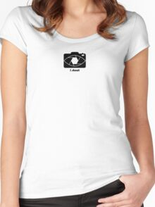 I shoot - black Women's Fitted Scoop T-Shirt