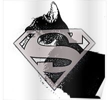 Supercat logo black and White  Poster