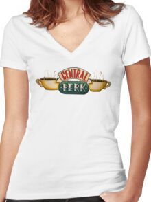 Central Park  Women's Fitted V-Neck T-Shirt