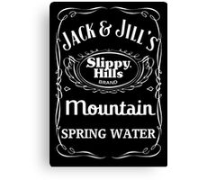 Jack & Jill's Slippy Hills Mountain Spring Water Canvas Print