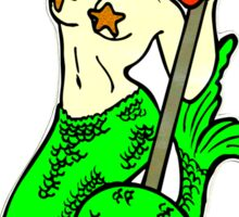 redheaded green-tail mermaid Sticker