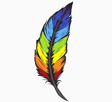 Rainbow Feather Unisex T-Shirt